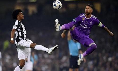 Ramos trong trận chung kết Champions League 2017 với Juventus. Ảnh: Reuters.