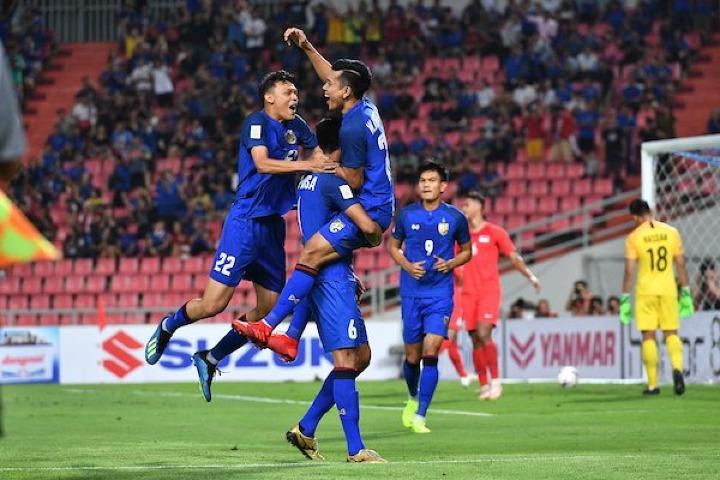 Chiến thắng dễ dàng trước Singapore cho thấy sức mạnh của Thái Lan. Ảnh: AFF.