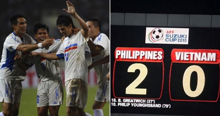 Philippines làm nên lịch sử khi đánh bại Việt Nam 8 năm trước tại Hà Nội. Ảnh: AFF.