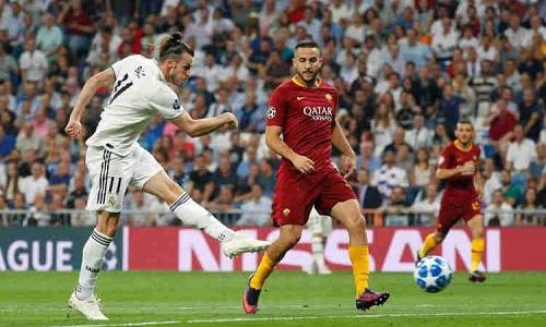 Bale góp công đầu trong chiến thắng của Real trước Roma. Ảnh:Reuters.