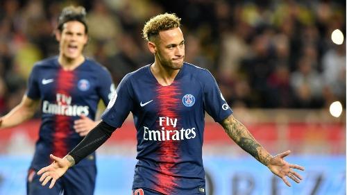 Neymar trong màu áo PSG. Ảnh:Reuters.
