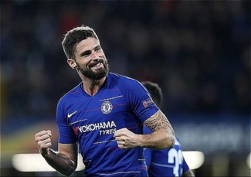 Giroud nổ súng trận thứ hai liên tiếp ở Europa League. Ảnh:SI.