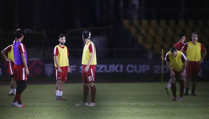 Tuyển Philippines có nhiều cầu thủ hai quốc tích, có kỹ thuật cá nhân tốt. Ảnh: Đức Đồng