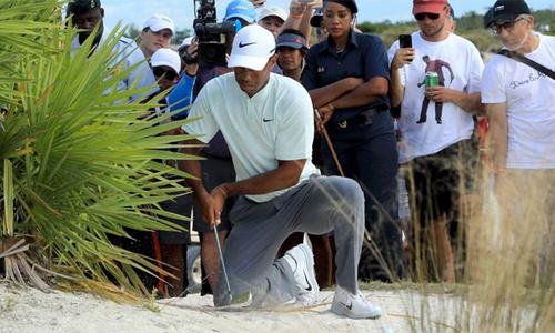 Tiger Woods xếp áp chót vòng hai Hero World Challenge