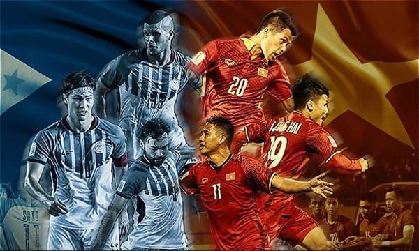 Việt Nam lần đầu tiên chơi tại Philippines trong khuôn khổ AFF Cup.