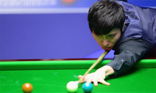 Cao Yupeng từng được giới snooker gọi là cơ thủ đen đủi nhất thế giới, khi từng bỏ lỡ bốn cơ hội vàng để thắng chung kết Scottish Open 2017. Ảnh: World Snooker.