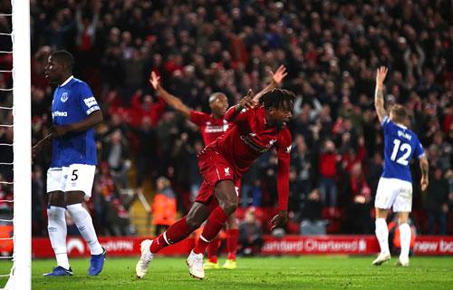 Liverpool giành chiến thắng kịch tính khép lại trận derby hấp dẫn. Ảnh:AFP.