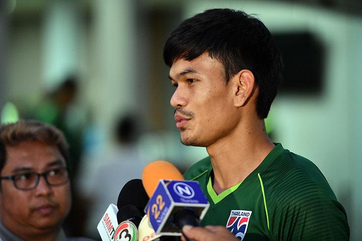Adisak hiện dẫn đầu danh sách vua phá lưới AFF Cup 2018, với tám bàn. Ảnh: AFF.