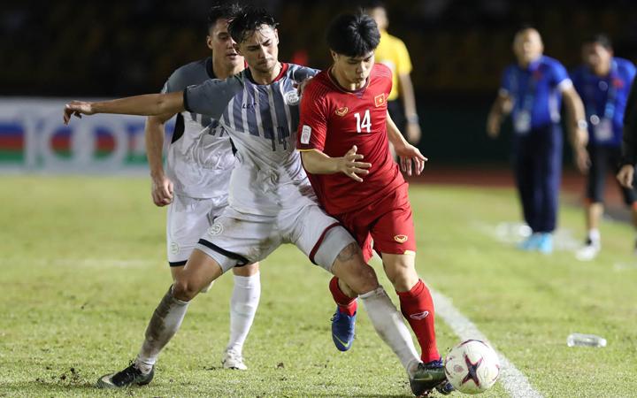 Philippines có ít thời gian để hồi phục thể lực hơn Việt Nam sau trận lượt đi. Ảnh: Đức Đồng.