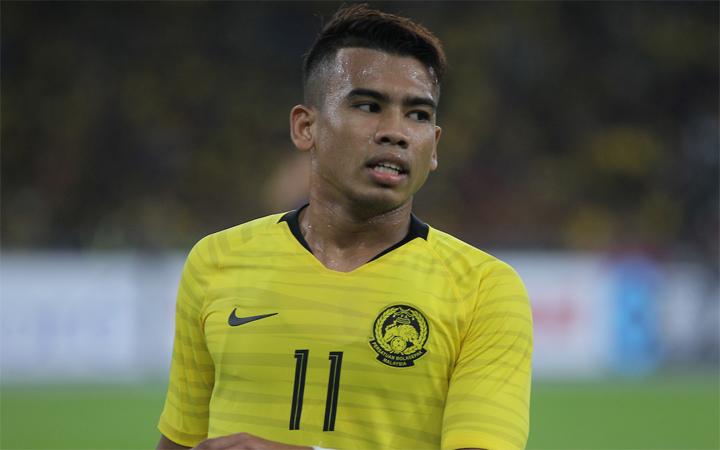 Rasid không thể ghi bàn trong trận bán kếtlượt đi với Thái Lan. Ảnh: AFF.