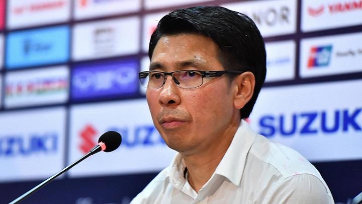 HLV Tan Cheng Hoe tự hào về sự điềm tĩnh của các học trò. Ảnh: AFF.