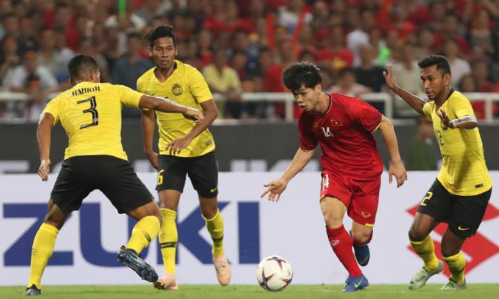 Malaysia để thua 0-2 trước Việt Nam trong trận đấu trên sân Mỹ Đình ngày 16/11.