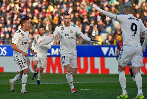 Bale ghi bàn trở lại sau 10 trận tịt ngòi. Ảnh: Reuters