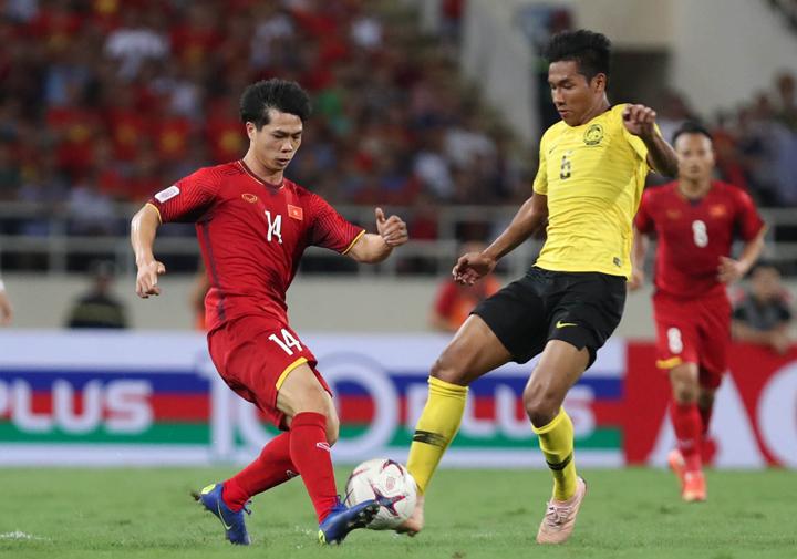 Công Phượng trong trận thắng Malaysia 2-0 tại Mỹ Đình ngày 16/11. Ảnh: Đức Đồng