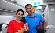 Chuyến bay đặc biệt dành cho các cầu thủ trên chiếc Airbus A350 của Vietnam Airlines