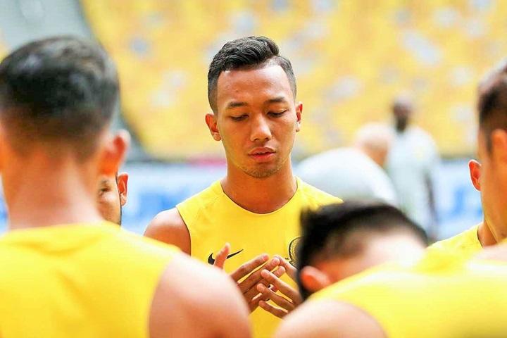 Hậu vệ Adam Nor Azlin được gọi lên đội tuyển Malaysia lần đầu vào năm 2017. Ảnh: Goal.