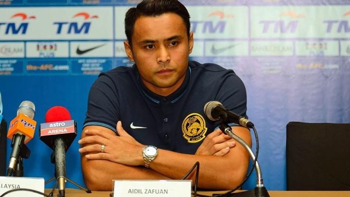 Trung vệ Aidil là anh em sinh đôi của đội trưởng Malaysia, Zaquan Adha. Ảnh: NST.