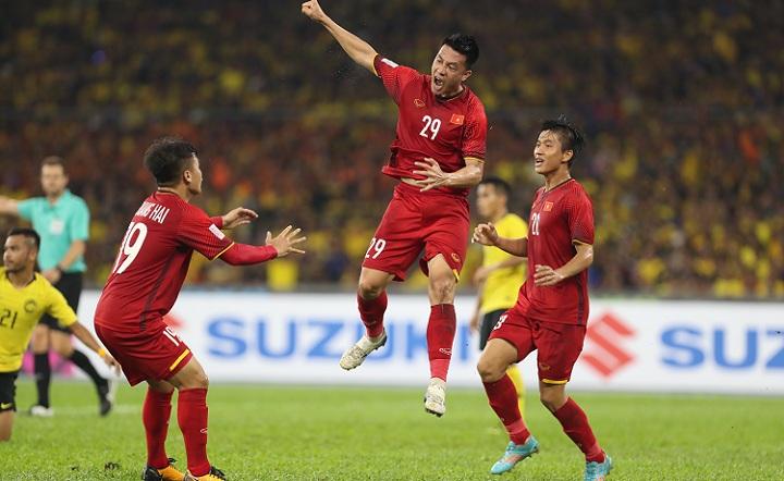 Huy Hùng cho biết sẽ rất lâu nữa anh mới có lại cảm xúc như lúcghi bàn vào lưới Malaysia. Ảnh: Đức Đồng.
