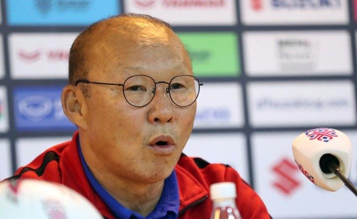 HLV Park Hang-seo tự tin vào việc giải quyết chung kết lượt về trong vòng 90 phút chính thức. Ảnh: Đức Đồng.