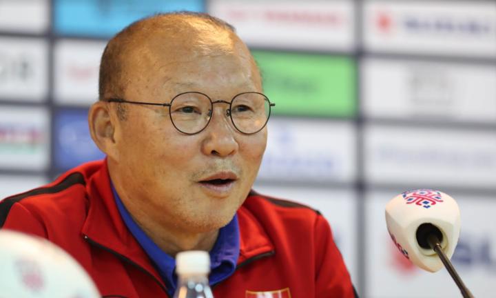 Thầy Park chỉ còn cách một trận để đoạt chứcvô địch đầu tiên với một đội tuyển quốc gia. Ảnh: Đức Đồng.