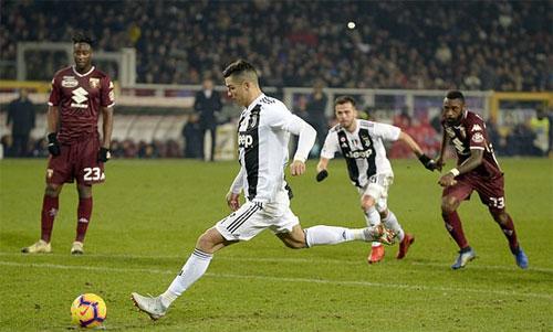 CR7 và Juventus vẫn bất bại sau 16 vòng đầu Serie A, với 15 chiến thắng và một trận hòa. Ảnh: Reuters