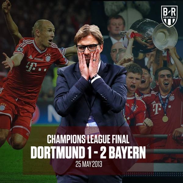 Klopp hẳn chưa quên trận thua Bayern năm 2013.