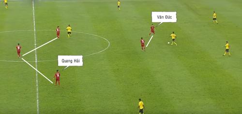 Quang Hải và Văn Đức cùng xuất phát ở vị trí tiền đạo cánh, nhưng cách chơi lại hoàn toàn khác nhau.