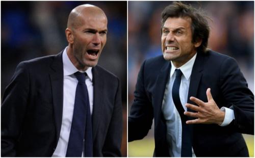 Zidane và Conte đều đang là người tự do. Ảnh:Reuters.