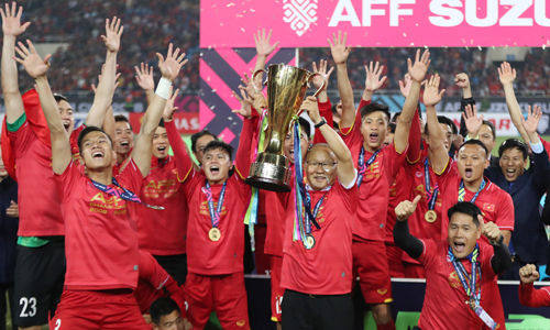 HLV Park Hang-seo mở ra một tương lai đầy hứa hẹn cho bóng đá Việt Nam ở cấp châu lục. Ảnh: Đức Đồng.