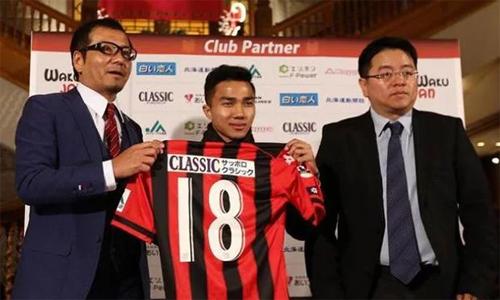 Chanathip là một hiện tượng tại J-League trong mùa giải đầu tiên chơi choConsadole Sapporo. Ảnh: Kyodo News.