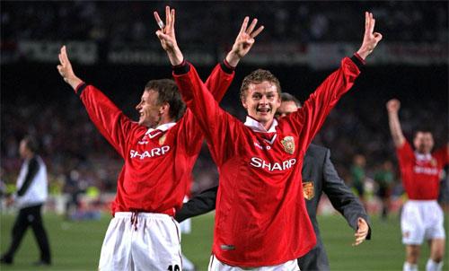 Solskjaer là tác giả của một trong hai bàn phút bù giờ giúp Man Utd thắng Bayern 2-1 năm 1999. Ảnh: Reuters