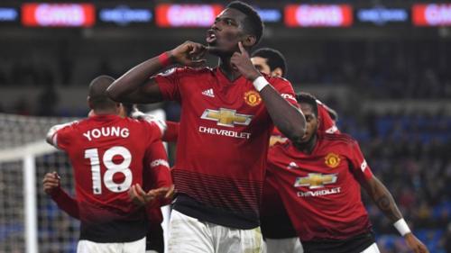 Pogba góp dấu giày ở 4 trong 5 bàn thắng của Man Utd hôm qua. Ảnh: Sky.