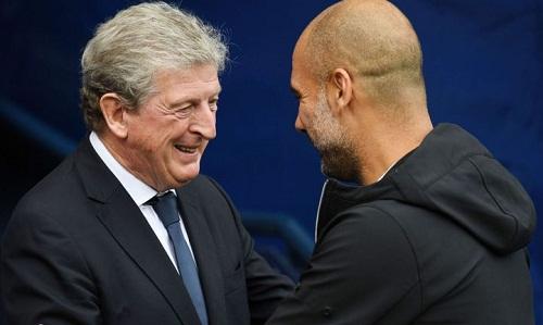 Hodgson cho rằng thất bại trước Palace không khiến Guardiola lo lắng. Ảnh: EPA.