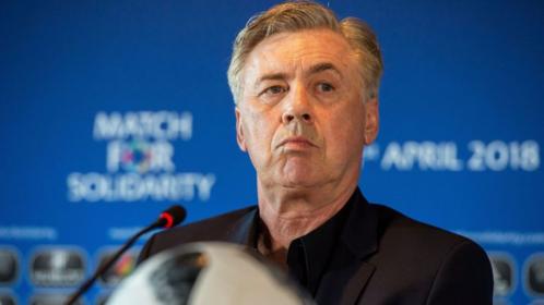 Ancelotti muốn các học trò thoải mái thi đấu thay vì nghĩ tới việc đuổi theo Juventus. Ảnh:AFP.