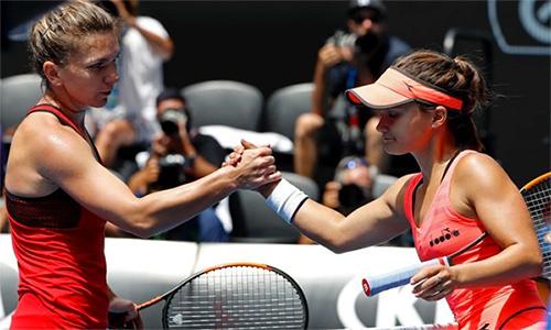 Simona Halep thắng 15-13 trong set cuối trận vòng ba gặp Lauren Davis năm 2018, nhưng bị ảnh hưởng nặng nề về thể lực và không thể vô địch. Ảnh: ABC.