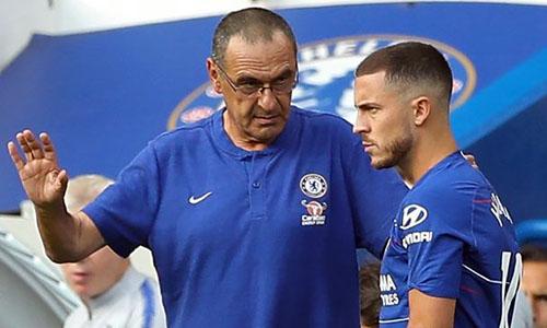 Hazard (phải) luôn là ngôi sao số một Chelsea, kể từ hè 2012, thời điểm anh gia nhập CLB. Ảnh: PA.