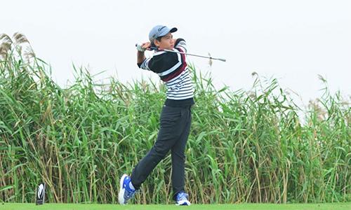 Đặng Quang Anh từng xếp thứ ba tại giải đối kháng, trong lần đầu tham dự năm 2017. Ảnh: Golfplus.