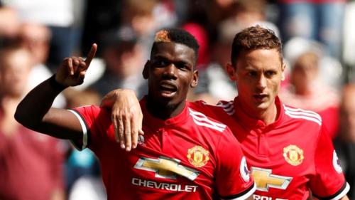 Pogba và Man Utd là hai trụ cột ở tuyến giữa Man Utd. Ảnh:Reuters.