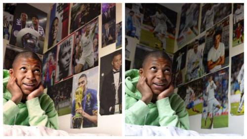 Hai bức ảnh mang thông điệp khác nhau của Mbappe.