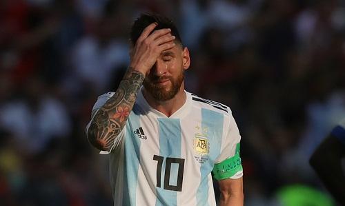 Messi thường bị đánh giá thấp vì không thành công khi khoác áo đội tuyển Argentina. Ảnh: AFP.
