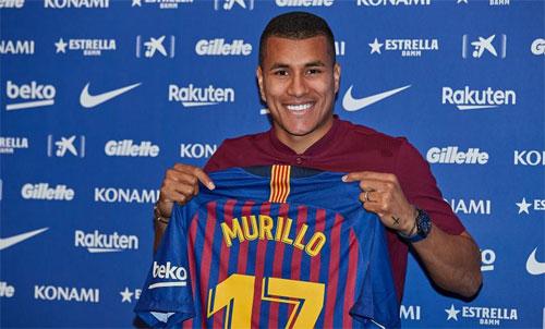 Barca mới có trung vệ Jeison Murillo, người về từ Valencia theo hợp đồng mượn kèm điều khoản mua đứt. Ảnh: Reuters