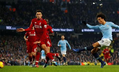 Sane ghi bàn quyết định cho Man City. Ảnh: Reuters