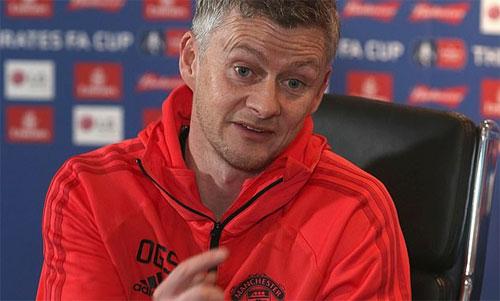 Solskjaer đang có bốn trận toàn thắng với Man Utd. Ảnh: Reuters