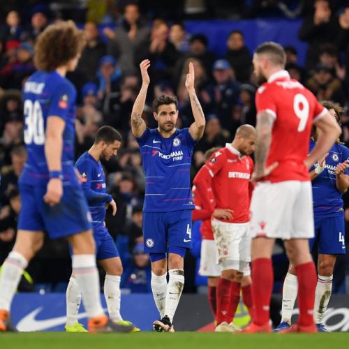 Fabregas chia tay sân Stamford Bridge. Ảnh:AFP.