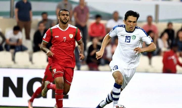 Bản lĩnh giúp Uzbekistan bỏ túi ba điểm quan trọng trong cuộc so tài với Oman. Ảnh: Fox.