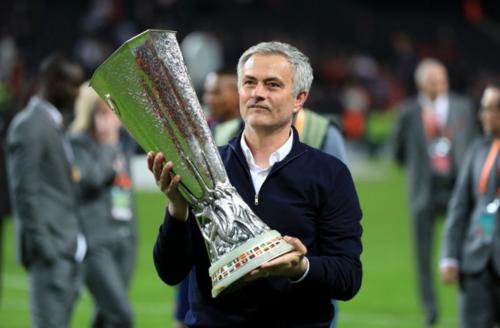 Chức vô địch Europa League là một trong ba danh hiệu của Mourinho tại Man Utd. Ảnh:AFP.