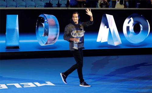 Federer vô địch Australia Mở rộng trong hai năm gần nhất. Ảnh: AP.