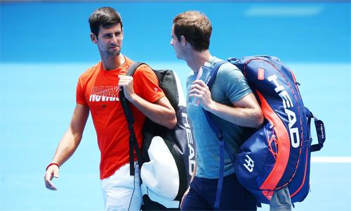Murray (phải) khó có thể là kỳ phùng địch thủ của Djokovic như vài năm trước. Ảnh: Twitter.