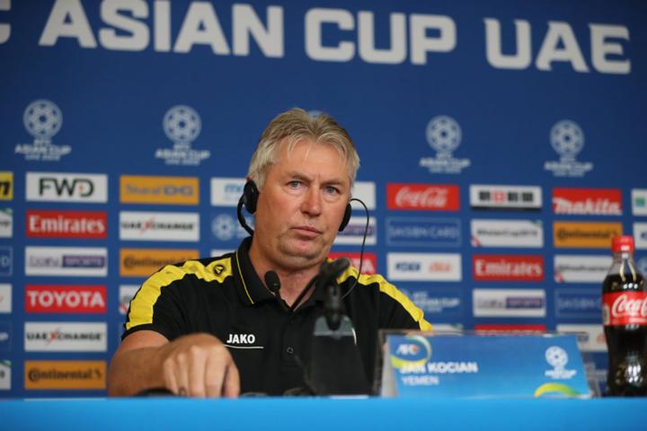 HLV Kocian kỳ vọng Yemen chia tay Asian Cup với một màn trình diễn tốt. Ảnh:Văn Lộc.