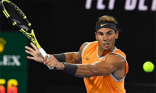 Nadal đang trở thành hung thần của các tay vợt chủ nhà tại giải. Ảnh: Australian Open.